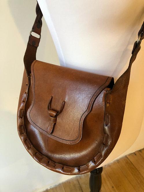 Vintage leather boho bag🙌