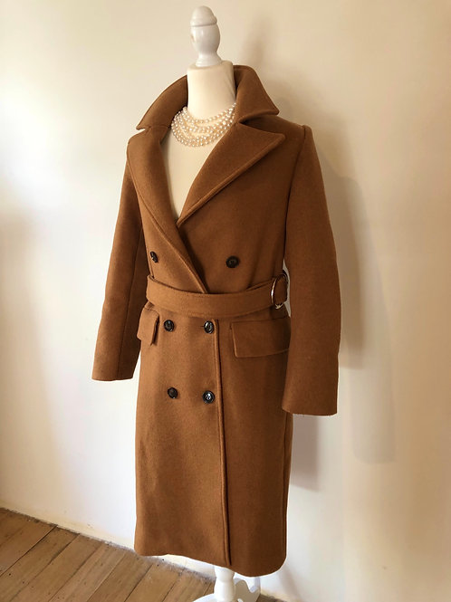 Designer wool cashmere Burberry style coat