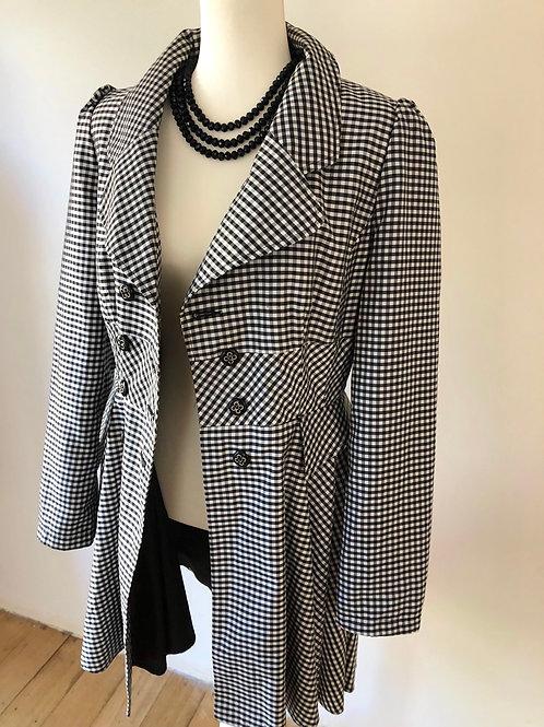 Designer Miss Selfrige swing 1950's light coat