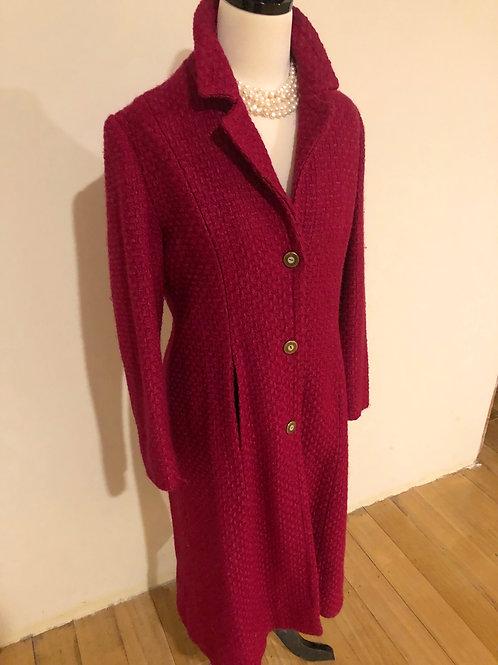 Vintage 1950's wool Fuschia coat