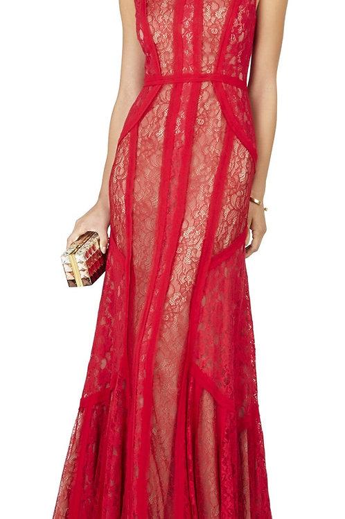 Designer red carpet gown BCBG Maxazria