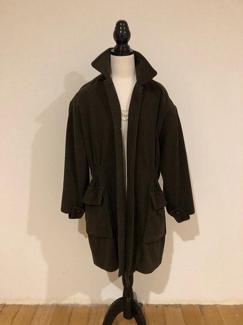 Vintage wool olive green coat