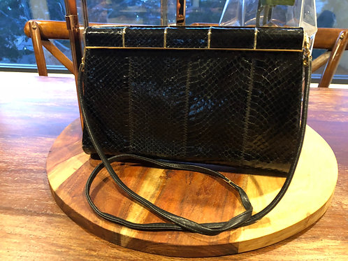 Vintage Jane Shelton snakeskin London handbag