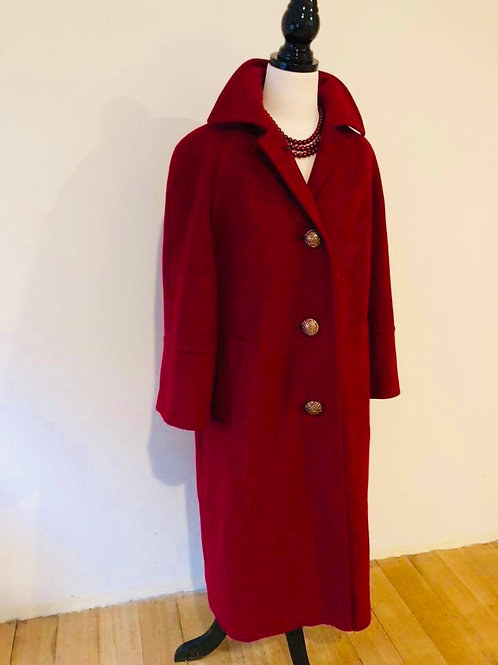 Vintage wool 1950's coat made in England