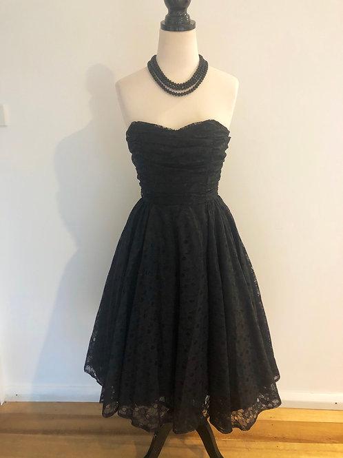 Vintage lace evening dress