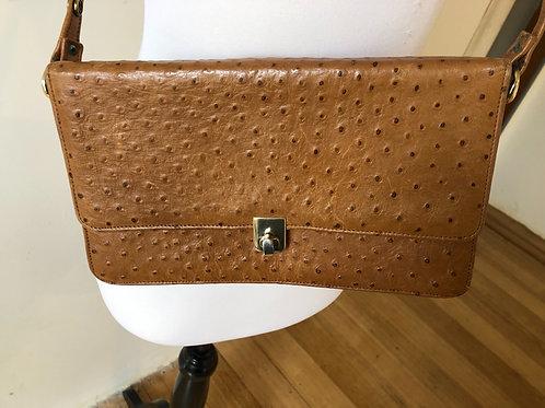 Vintage rare ostrich leather handbag