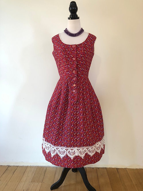 Vintage German cotton 1950's frock