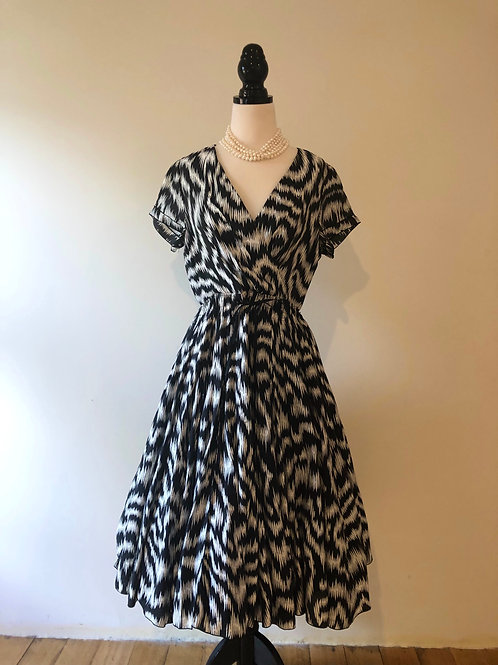 Black and white 1950's style cotton frock