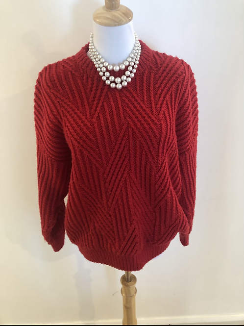 Vintage 1980's wool knot jumper