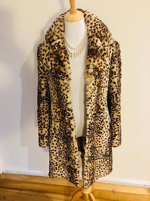 Vintage rare 1980's Marvin Richards leopard fur jacket