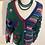 Thumbnail: Vintage 1980's amazing handmade wool cardigan
