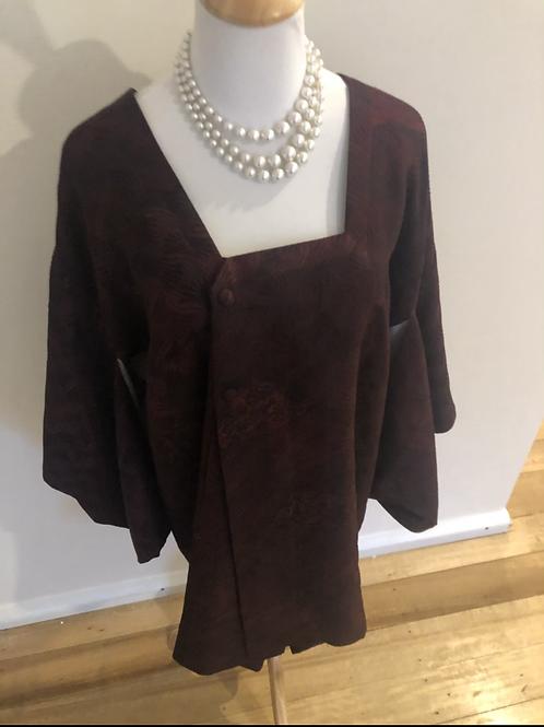Japanese vintage silk cotton kimono jacket