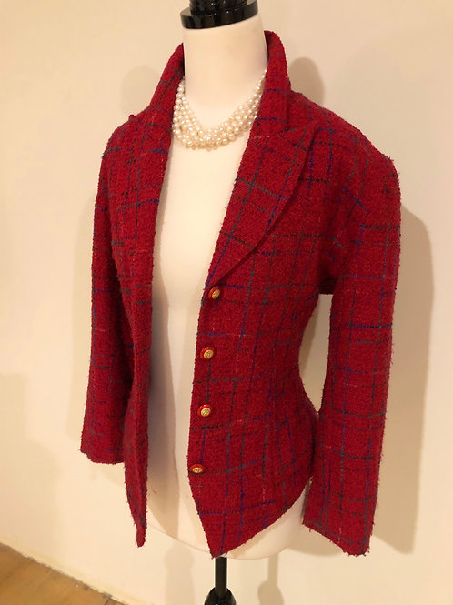 Vintage wool Italian blazer gold buttons