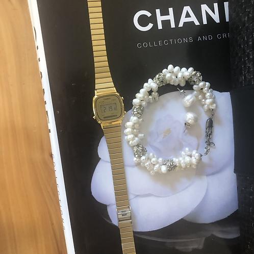 Casio ladies gold digital vintage watch