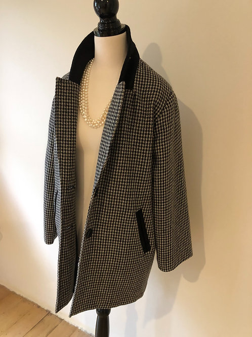 Vintage houndstooth wool jacket