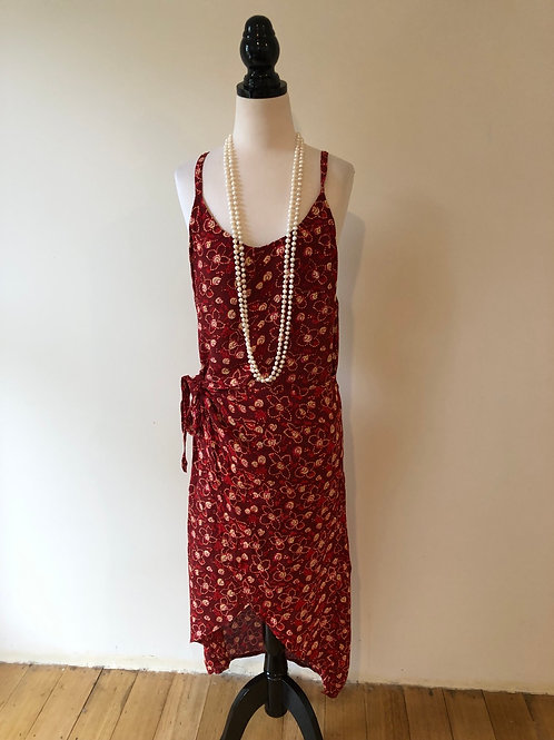Vintage red wrap frock from Munich