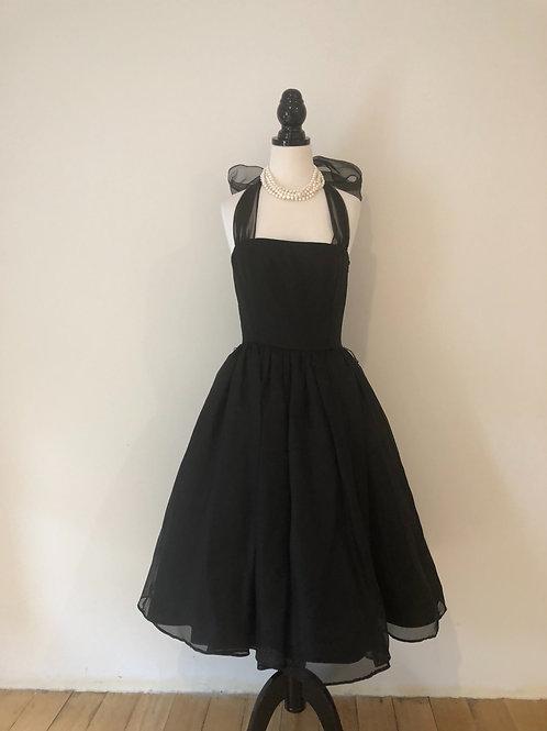 Designer Ellen Tracy silk 1950's style ball gown