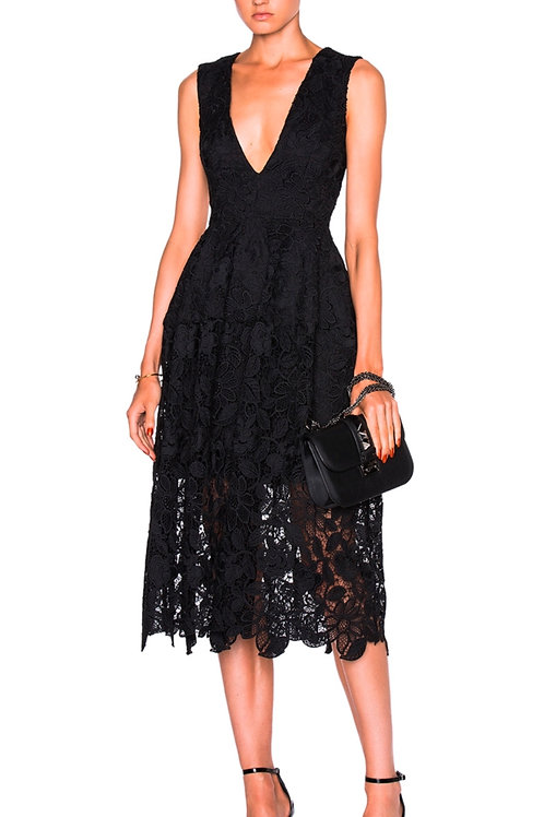 Nicolas designer lace formal dress