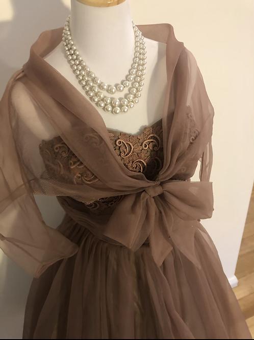 1950's New York evening ball gown set
