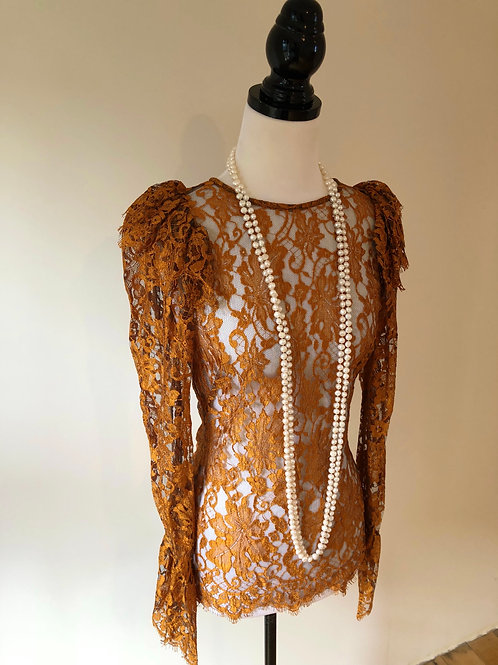 Ginger and smart lace evening top