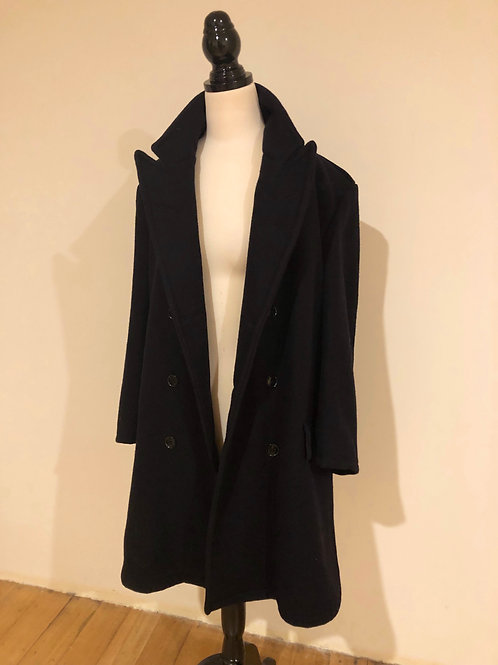 Vintage wool double breasted coat