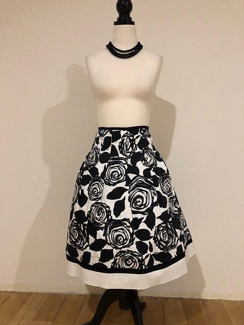 Australian made 1950's style cotton sateen rose skirt