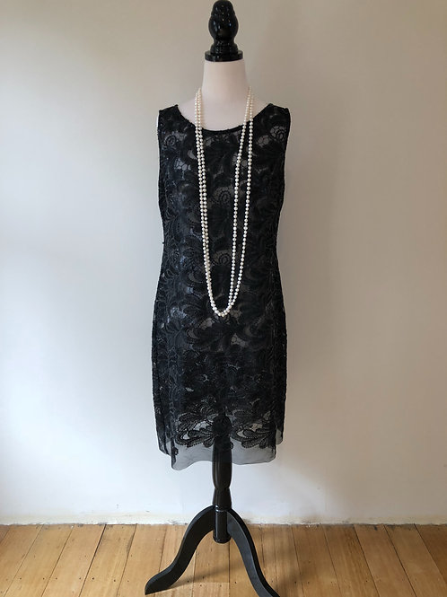 Designer 1920's style beaded evening dress