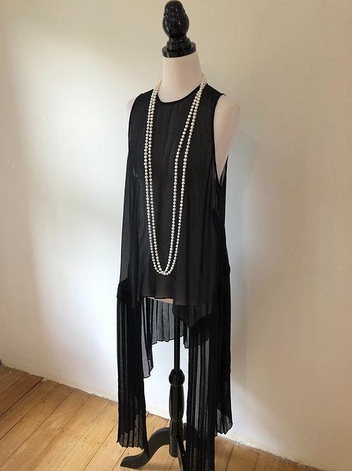 Thurley silk black top