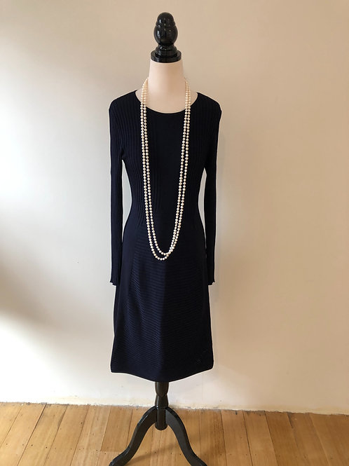 H&M winter knit cable navy dress