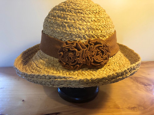 Vintage handmade Raffer hat