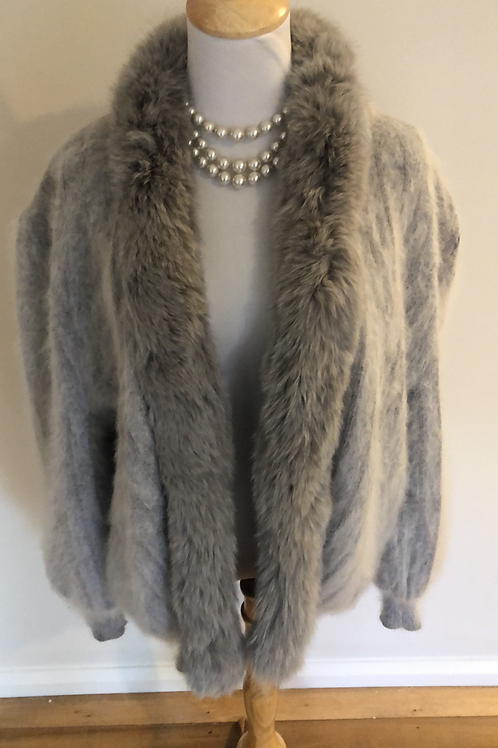 Vintage 1960's rabbit fur light jacket size 10-14