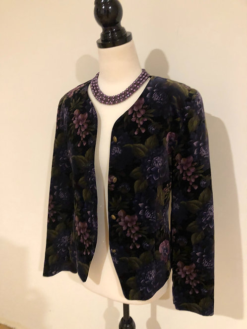 Vintage velvet floral blazer