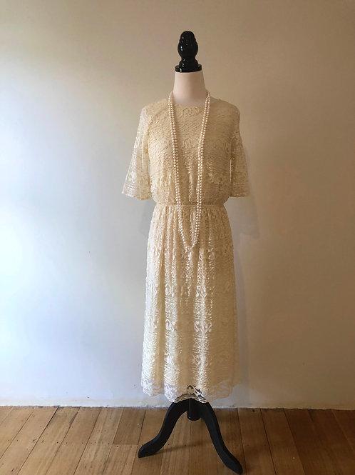 Vintage cream lace frock