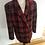 Thumbnail: Vintage Australia wool red checker boyfriend style jacket