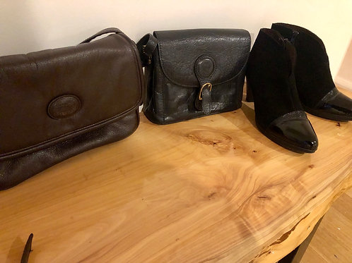 Vintage leather dark brown Italian Cob and Co