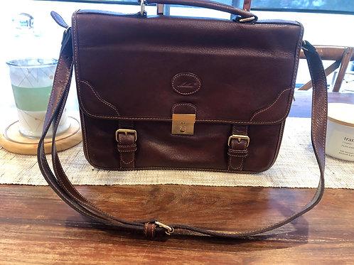 Vintage leather satchel