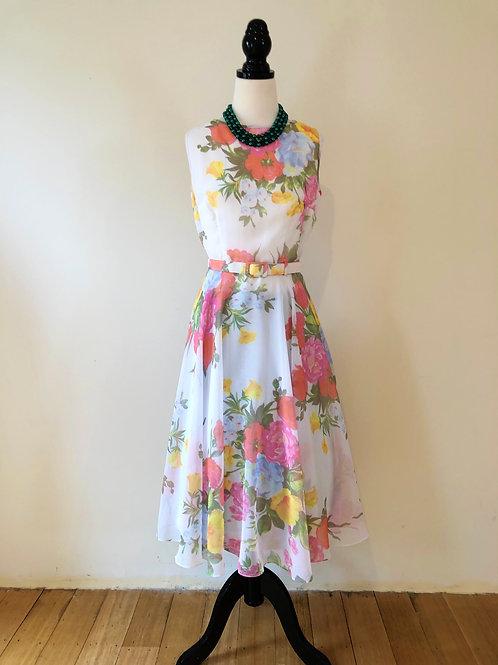 Vintage floral chiffon beauty