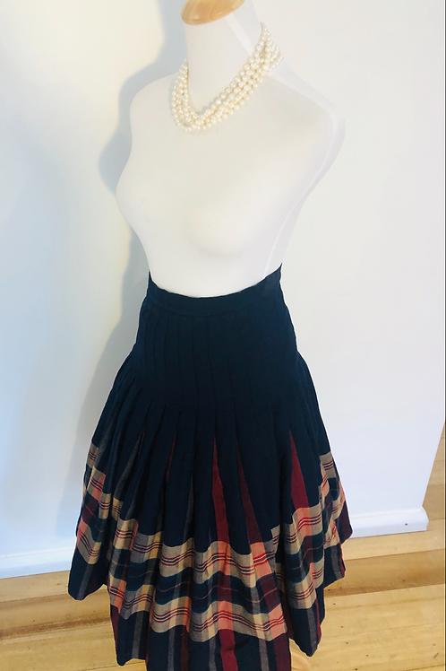 Vintage fletcher Jone pure wool full pleated skirt