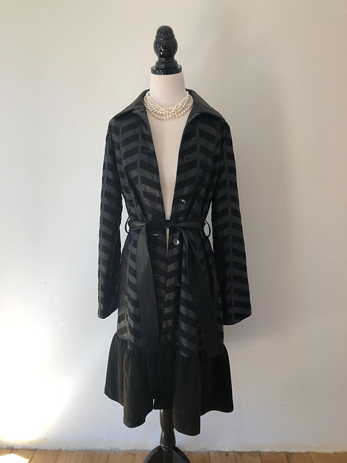 Vintage lambskin leather coat