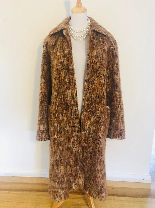 Vintage 1950's rare long mohair light coat