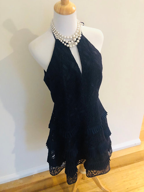 Forever new midnight blue lace frock