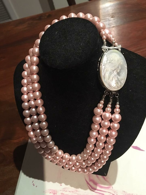 Mulberry street Australian made glass pearls with cameo