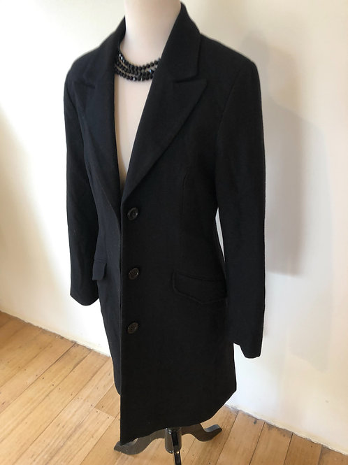 Designer Farage wool black coat