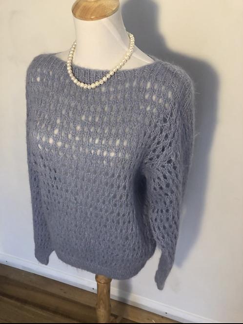 Angora vintage blue knit jumper