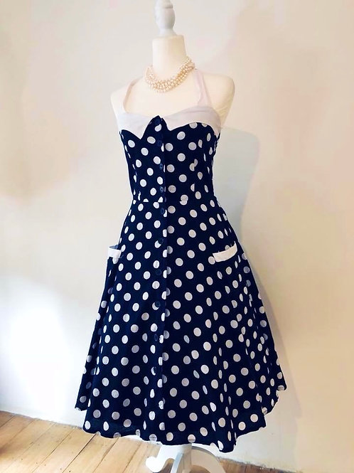 1950's style polka dot cotton beauty