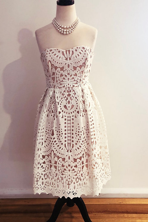 Seed white lace dress