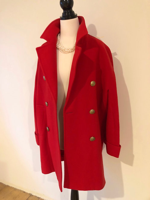 Vintage wool blend South African  red coat