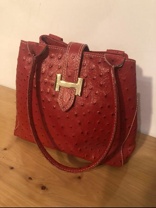 Italian ostrich Handbag