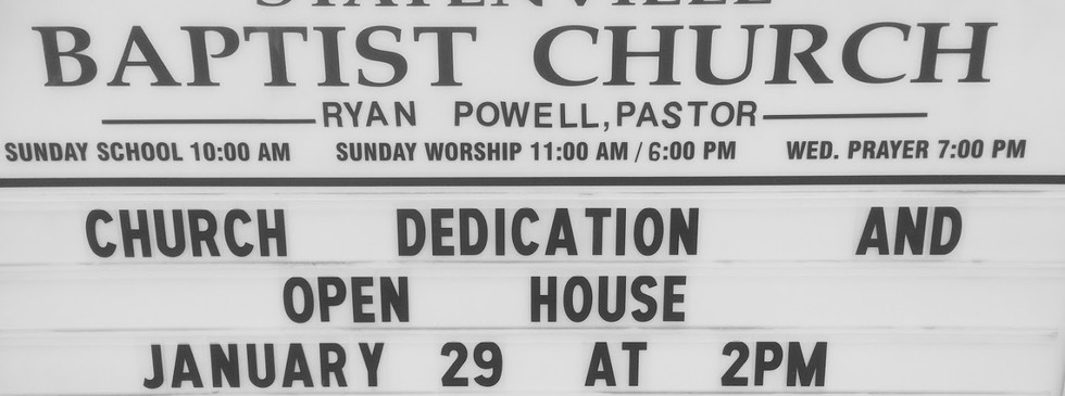 Church Dedication, January 29, 2017