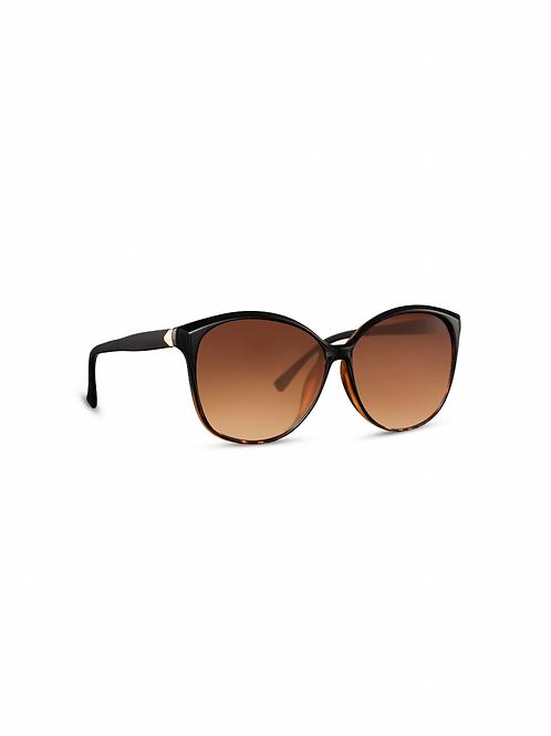 Aron Thin Frame Leopard Print Sunglasses